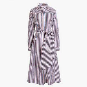 J CREW JCREW New Tie-waist Shirtdress in Stripe 2